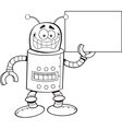 Cartoon Robot with a Sign vector image vector image