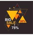 Big sale 50 75 percent vector image