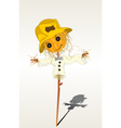 smiling scarecrow vector image