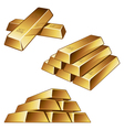 gold bars on white background vector image vector image