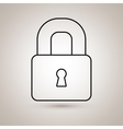 padlock icon design vector image