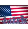 Open hand raised multi purpose concept USA vector image