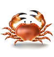 badges stickers crab in vector image