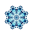 Blue ukrainian painting style Petrikovka round vector image