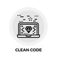 Clean Code Icon vector image