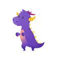 cute purple dragon vector image