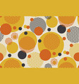 geometric circle seamless pattern vector image