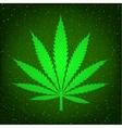 green hemp sign vector image