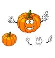 Happy colorful orange cartoon pumpkin vector image