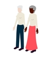 Old lesbian isometric couple vector image