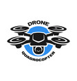 Video drone quadrocopter logo vector image