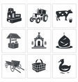 Village life Icons Set vector image