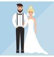 wedding of a cute boy and girl vector image