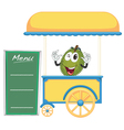 a cart stall and a jackfruit vector image vector image