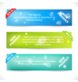 Color Banner Abstract Design Template vector image vector image