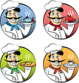 Italian cartoon chef vector image vector image