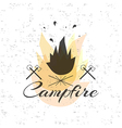 Print on t shirt design theme of the campfire vector image