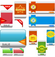 set of sale banner vector image vector image