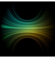 green smooth wave vector image vector image