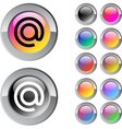At multicolor round button vector image vector image