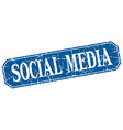 social media blue square vintage grunge isolated vector image