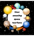Background of solar system vector image