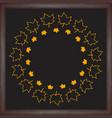 color wreath maple leaf on chalkboard background vector image