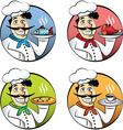 Italian cartoon chef vector image