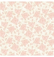 Light pink stylized doodle roses seamless pattern vector image