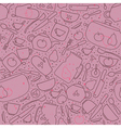 Seamless pattern with crockery and cutlery vector image
