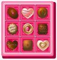 box of chocolates vector image