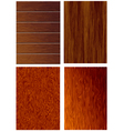 4 texture of wood vector image vector image