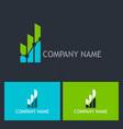 chart progress success company logo vector image