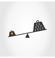 bulb scales vector image vector image
