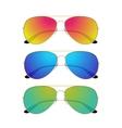Aviator sunglasses isolated on white background vector image