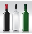 Realistic sample glass bottles empty transparent vector image vector image
