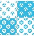 Radiohazard patterns set vector image