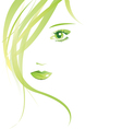 summer girl isolated vector image vector image