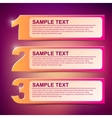 text frame 1-2-3 vector image vector image