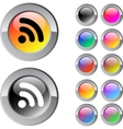 Rss multicolor round button vector image vector image