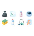 cleaning and maid icons in set collection for vector image