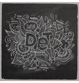 Diet hand lettering On Chalkboard vector image
