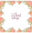 Floral frame and place for text vector image