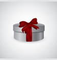 open gift box with red bow isolated on white vector image