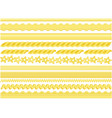 pasta pattern brushes vector image