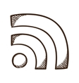 Rss wire connection symbol vector image