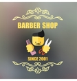 Vintage barber shop badge vector image