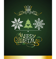 Christmas card with knitted elements vector image vector image