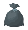 Garbage bag icon in cartoon style isolated on vector image