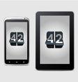 Phone and tablet with counter vector image